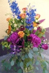 Mixed Bouquet I designed with delphinium from my garden