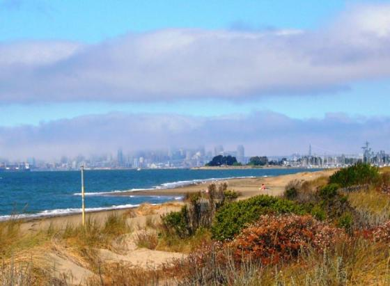 Alameda Beach with view of San Francisco